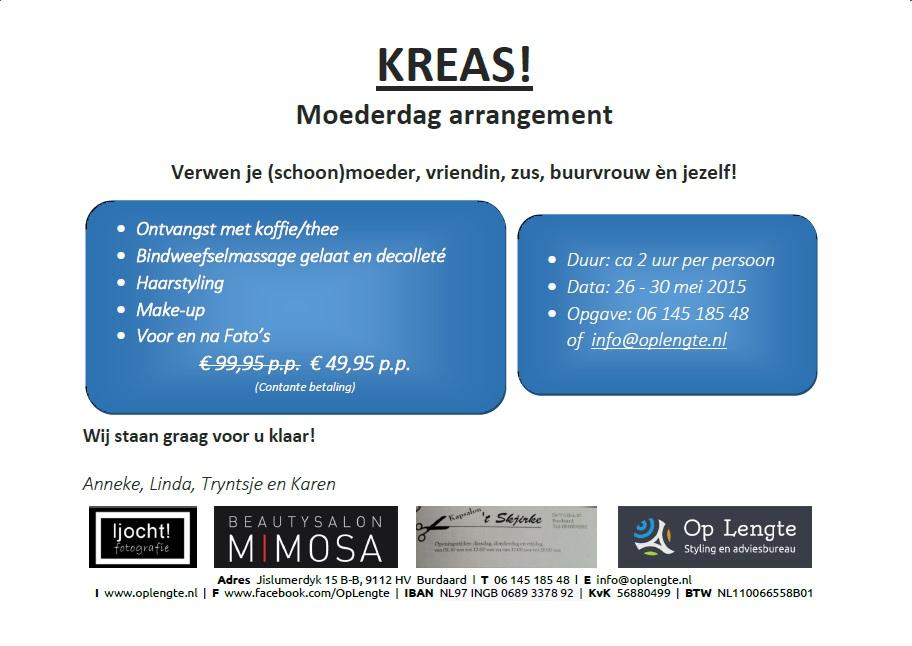 Kreas! Moederdagarrangement